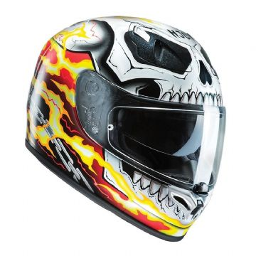 HJC FG-ST Marvel's Ghost Rider Advanced Fiberglass Full Face Motorcycle Helmet